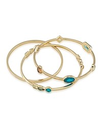 Carolee Embellished Bangles Set Of 3 Gold