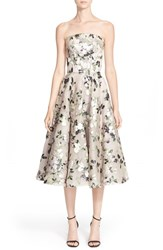 Women's Alexander Mcqueen Floral Print Strapless Fit And Flare Dress