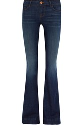 J Brand Love Story Mid Rise Flared Jeans Blue