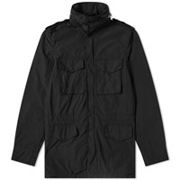 Aspesi Nylon Garment Dyed Field Jacket Black