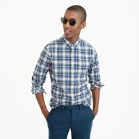 J.Crew Tall Lightweight Oxford In Blue Check