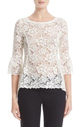 Oscar De La Renta Women's High Low Lace Blouse
