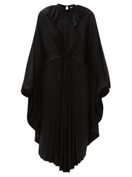 Vetements Pleated Jersey Midi Dress Black