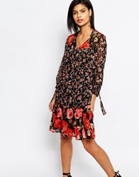 French Connection Anastasia Mix Floral Smock Dress Multi
