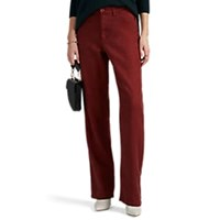 Leo And Sage Linen Cotton Relaxed Trousers Red