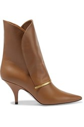 Givenchy Bar Leather Ankle Boots Tan