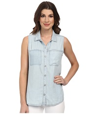 Dittos Felicia Sleeveless Shirt Bleach Women's Sleeveless Blue