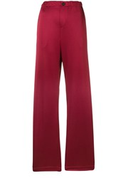 Golden Goose Deluxe Brand Mid Rise Palazzo Trousers Red