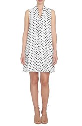 Cece Women's Daisy Dot Swing Dress Ultra White