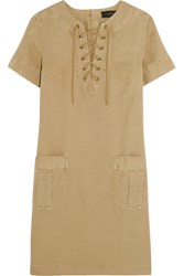 J.Crew Collection Cotton And Linen Blend Mini Dress Sand