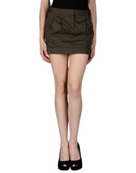 M.Grifoni Denim Mini Skirts Dark Brown