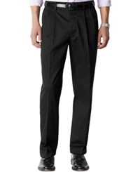 Dockers D4 Relaxed Fit Iron Free Pleated Pants Black Metal