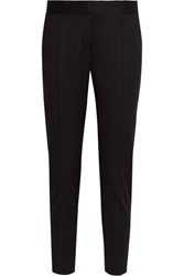Stella Mccartney Vivian Wool Twill Tapered Pants Black