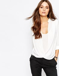 New Look Wrap Shell Blouse Cream