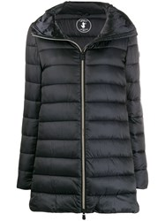 Save The Duck Zip Front Padded Coat Black