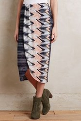 Anthropologie Plata Chevron Skirt Blue Motif