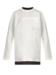 Vetements X Hanes Long Sleeved Double Layer Cotton T Shirt White