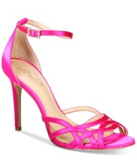 Jewel By Badgley Mischka Haskell Strappy Sandals Women's Shoes Hot Pink