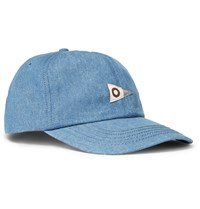 Mollusk Cotton Chambray Baseball Cap Blue