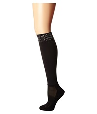 Bootights Roxy Rhinestone Darby Black Women's Crew Cut Socks Shoes
