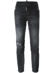 Dsquared2 'Cool Girl' Cropped Jeans Black