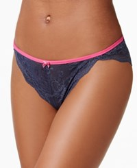 Maidenform All Over Cheeky Lace Tanga Dm0008 Navy W Destiny Pink