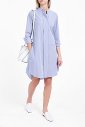 Theory Women S Taff Stripe Shirt Dress Boutique1 Blue White