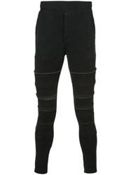 Private Stock Raw Edge Panelled Track Pants Polyester Wool M Black