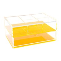 Lund London Flash Blocco Acrylic Box Neon Orange