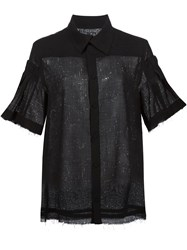 Alexandre Plokhov Pleated Sleeve Shirt Black