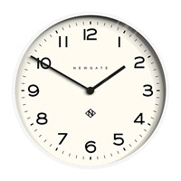 Newgate Number One Echo Wall Clock Pebble White