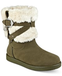 G By Guess Alixa Cold Weather Booties Women's Shoes Army Green