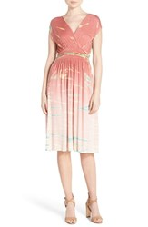 Fraiche By J Women's Jersey Fit And Flare Midi Dress Mauve Special
