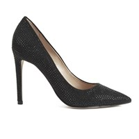Steve Madden Women's Pizazz Multi Rhinestone Pointed Court Shoes Black