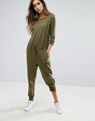 Noisy May Kicks Back Jumpsuit Ivy Green