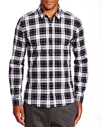 Hugo Boss Hugo Ero Large Plaid Slim Fit Button Down Shirt Bloomingdale's Exclusive Black White