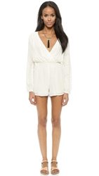 Liv Jasmine Cross V Romper White