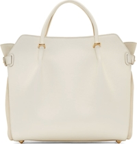 Nina Ricci White Leather Medium Marche Tote