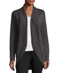 The Balance Collection Coco Cocoon Shawl Front Sweater Gray