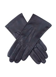 Dents Ladies Classic Leather Glove With Silk Lining Navy
