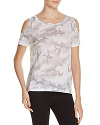 Generation Love Amber Camo Cold Shoulder Tee Light Grey Camo