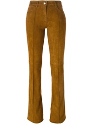 Jitrois 'Woods' Flared Trousers Brown