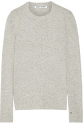 Elizabeth And James Embroidered Knitted Sweater Light Gray