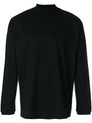 Martine Rose Funnel Neck Fitted Sweater Black