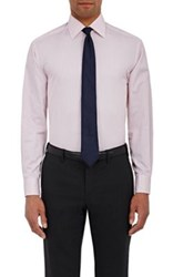 Barneys New York Men's Twill Button Front Shirt Pink