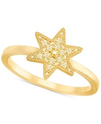 Swarovski Gold Tone Pave Star Ring