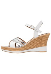 Tamaris Platform Sandals White