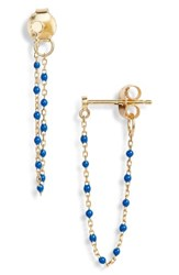 Argentovivo Argento Vivo Chain Bead Drop Earrings Gold Lapis