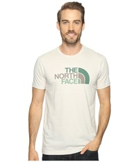 The North Face Short Sleeve Tri Blend Tee Rainy Day Ivory Heather Falcon Brown Multi Men's T Shirt Beige