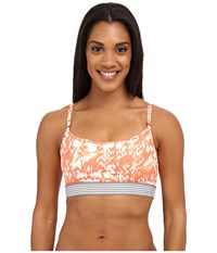 Lole Zion Bra Fiery Coral Reflection Women's Bra Orange